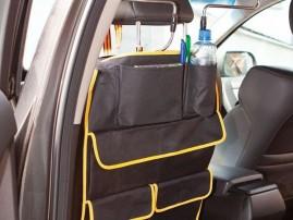 Для чего стоит купить универсальный подвесной органайзер с карманами на автомобильное сиденье?